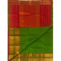 Green veldari with red border